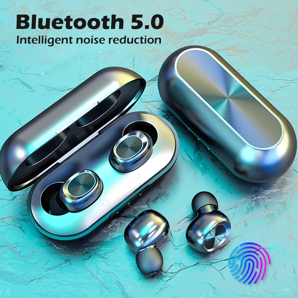 B5 Fingerprint touch airdots Tai nghe không dây bluetooth 5.0 tích hợp micro cao cấp chất lượng cao Pk Xiaomi Haylou GT1
