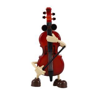 Wooden Music Box Violin Shape Music Box Machine Center Clockwork New Year Gift Children's Day Students Gifts Crafts