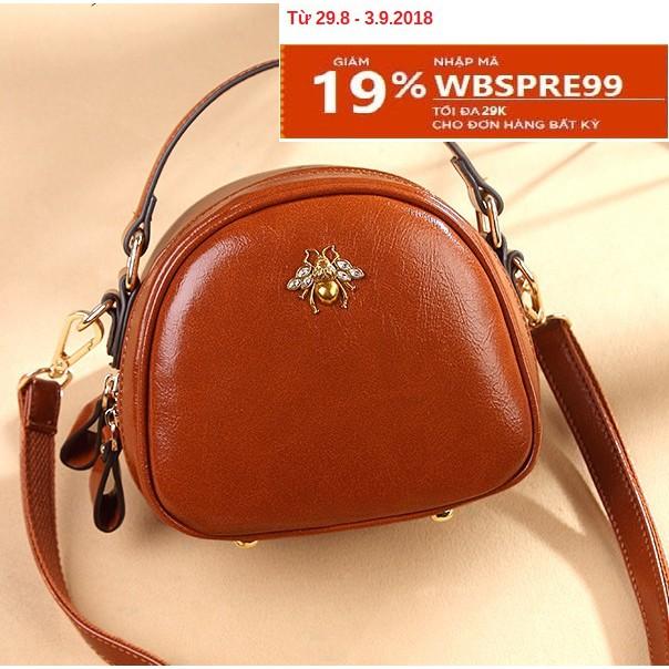 Nhập mã WBSSEP99 - Túi xách thời trang nữ đính con ong cao cấp Quảng Châu (vàng)