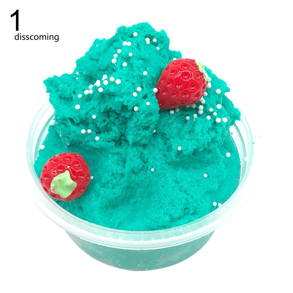 60ml Fruit Kids Slime Toy Stress Relief Plasticine Scented Fluffy Mud Clay Gift