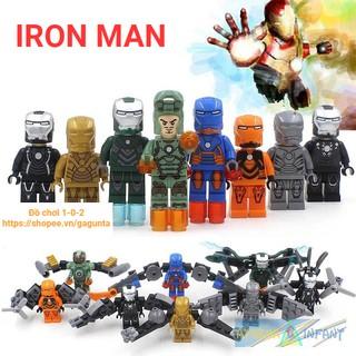 Lego Mô Hình Iron Man Minifigures Lẻ 8 nhân vật SY