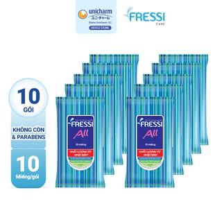 Combo 10 gói khăn ướt chăm sóc gia đình Fressi Care All 10 miếng gói