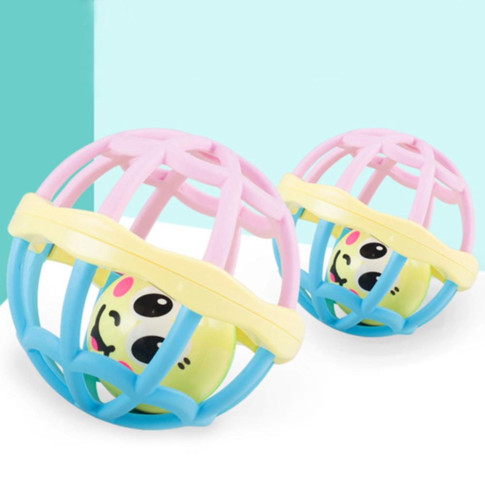 Educational Cartoon Bright Colors Soft Musical Early Learning Hollow Baby Rattles