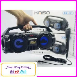 Loa KIMISO S1 Bluetooth kèm micro hát Karaoke