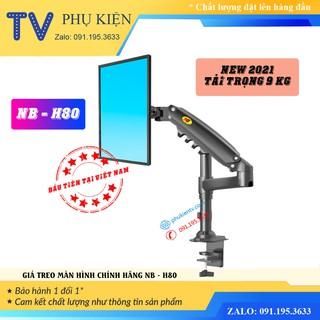 [NEW 2021] Giá treo màn hình NB H80 17 - 27 Inch Giá đỡ màn hình máy tính xoay 360 độ - Tay treo màn hình chính hãng
