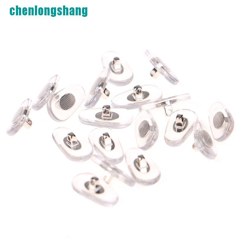 【ang】10Pairs Silicone Screw Nose Pads Brace Support For Glasses Sunglasses Nose Pad