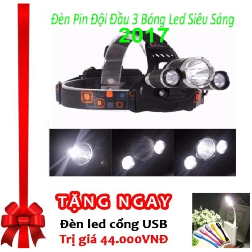 Đèn pin Led siêu sáng đội đầu 3 bóng (Đen) + Đèn led USB - Hàng Nhập Khẩu Loai 1 - 3415905 , 509888349 , 322_509888349 , 145000 , Den-pin-Led-sieu-sang-doi-dau-3-bong-Den-Den-led-USB-Hang-Nhap-Khau-Loai-1-322_509888349 , shopee.vn , Đèn pin Led siêu sáng đội đầu 3 bóng (Đen) + Đèn led USB - Hàng Nhập Khẩu Loai 1