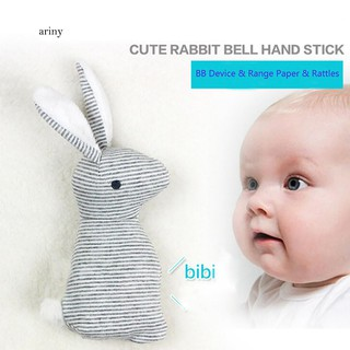 ♞Baby Rattle Animal Rabbit Infant Hand Bell Plush Kid Toy With BB Sound Gift