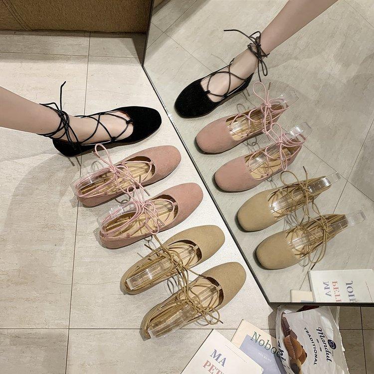Giày Búp Bê Nữ Đế Bằng Quai Chéo Thời Trang