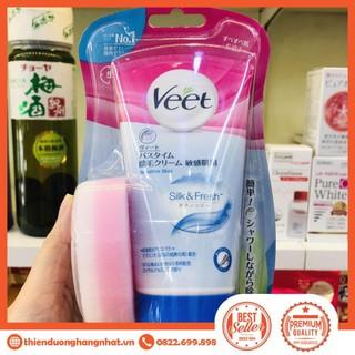 Kem tẩy lông Veet 150g tặng kèm bông hàng Nhật nội địa tẩy lông toàn thân Maneki