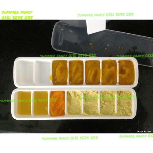 Khay đựng đồ ăn dặm kiểu Nhật (có nắp) / Khay có nắp thạch phô mai trà sữa khay đá