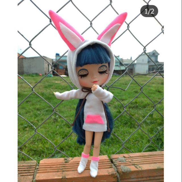 Set thời trang tai thỏ Blythe, ICY bjd