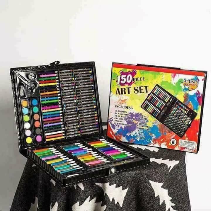 [HOT HOT HOT] Bộ hộp bút màu 150 món cho bé tô màu – hộp màu 150 chi tiết cho bé vẽ tranh -HÀNG XỊN