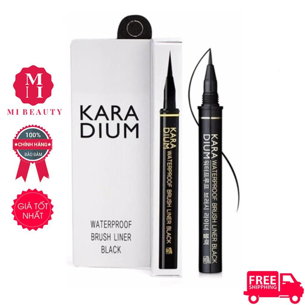 Kẻ mắt dạ siêu mảnh Karadium Waterproof Brush Liner Black chống nước vỏ trắng - 22779975 , 317250785 , 322_317250785 , 99000 , Ke-mat-da-sieu-manh-Karadium-Waterproof-Brush-Liner-Black-chong-nuoc-vo-trang-322_317250785 , shopee.vn , Kẻ mắt dạ siêu mảnh Karadium Waterproof Brush Liner Black chống nước vỏ trắng