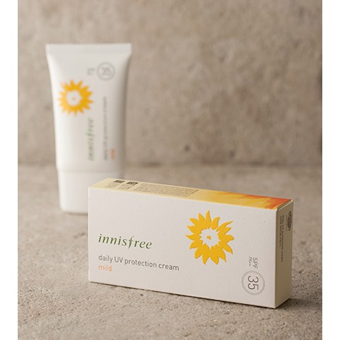 (co bill) KEM CHỐNG NẮNG INNISFREE DAILY UV PROTECTION CREAM | MILD 50ml