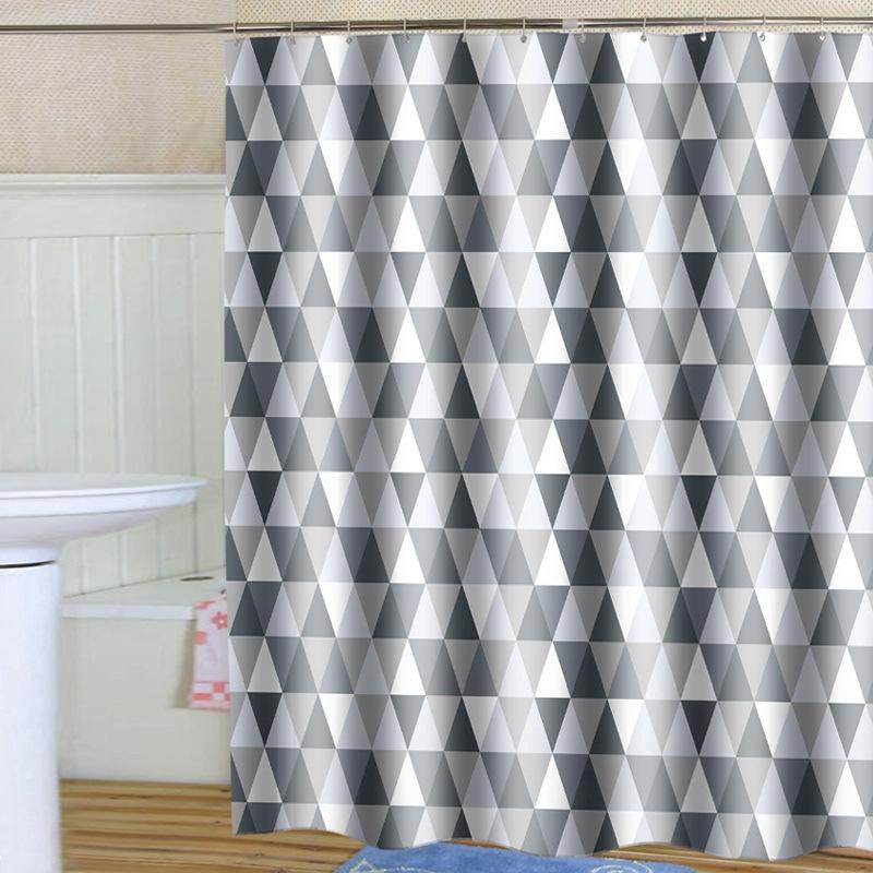 Rèm tắm polyester dày chống thấm nước hình tam giác