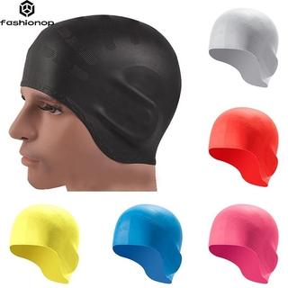 Women Men Children Swim Pool Waterproof Silicone Diving Swimming Cap Long Hair Protection Ear Cup Swim Caps Hat