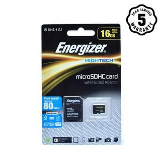 Thẻ nhớ Micro SDHC 16GB Energizer HT C10 U1 80Mb/s – FMDABH016A