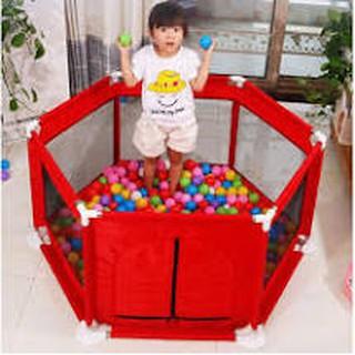 Quây bóng khung inox vải dù cho bé tặng kèm 10 quả bóng cho bé