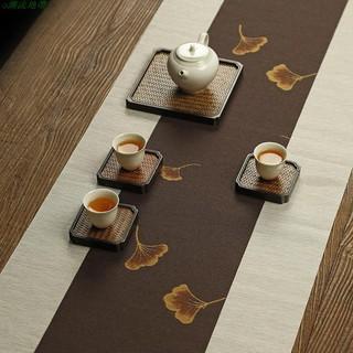 Khăn Trải Bàn Vải Lanh Cotton Chống Thấm Nước Phong Cách Trung Hoa