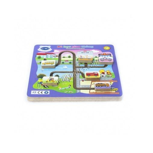 Đồ chơi gỗ Winwintoys 69292 - Bé học giao thông