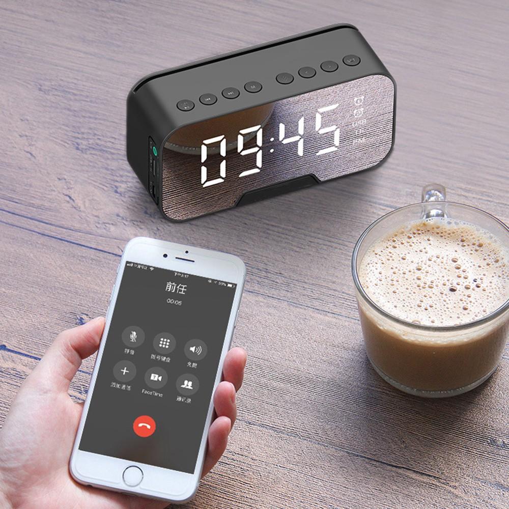 Đồng Hồ Loa G10 Bluetooth Đa năng Mặt Gương Phát nhạc - Đài FM - Báo Thức