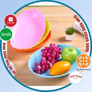 Xả sốc 3 ngày Đĩa nhựa hình lá Việt Nhật size nhỏ (MS 1241) đựng hoa quả, bánh kẹo, đồ ăn thiết kế mới lạ đẹp mắt -01226 thumbnail