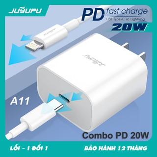 Củ Sạc Nhanh iPhone 20W JUYUPU A11 Combo PD 20W, UC01(PD18W+QC 3.0) 2 Cổng Đầu Ra USB Và Type-C,Cho iPhone 12 11 XS X XR thumbnail