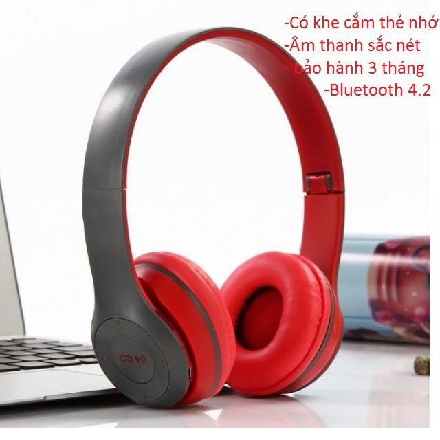 (Miễn Phí Vận Chuyển) Tai nghe bluetooth 4.2 P47 có khe cắm thẻ nhớ - Âm Thanh Đỉnh Cao -dc2815