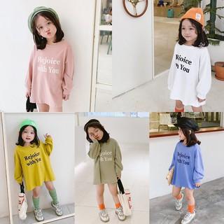Áo váy fom dài bé gái 4 màu B50 bé gái