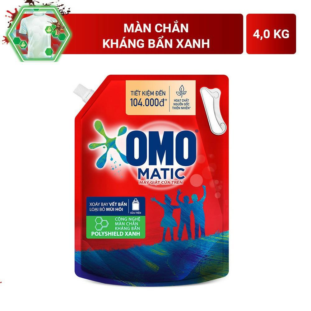 Nước giặt OMO Matic 4kg va 3,7kg (Túi)