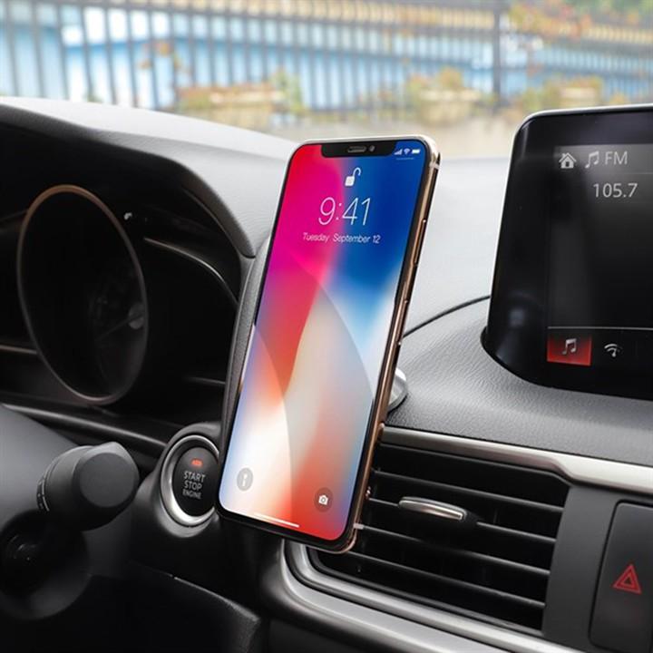 Giá đỡ điện thoại Hoco CA46 trên xe hơi, sử dụng đa năng tiện dụng, tương thích các thiết bị dán từ tính