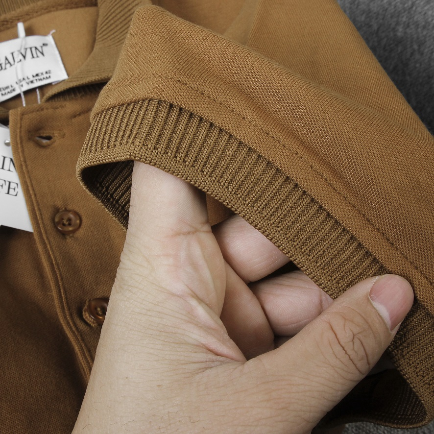 Áo Polo nam Leo Vatino vải Cotton cá sấu cao cấp xuất xịn dệt bo dày dặn chuẩn form áo thun cổ bẻ tay ngắn - Galvin
