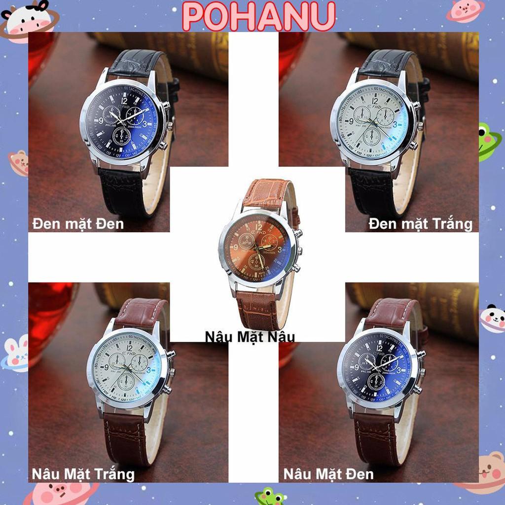 Đồng hồ nam thời trang cao cấp dây da CFHD DH101