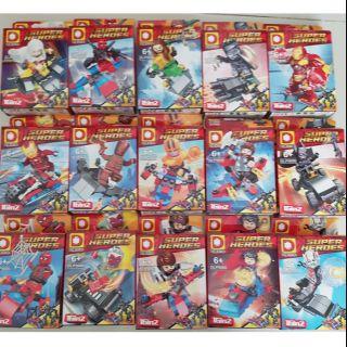 Lego Marvel minifigure các nhân vật marvel và dc no boxed