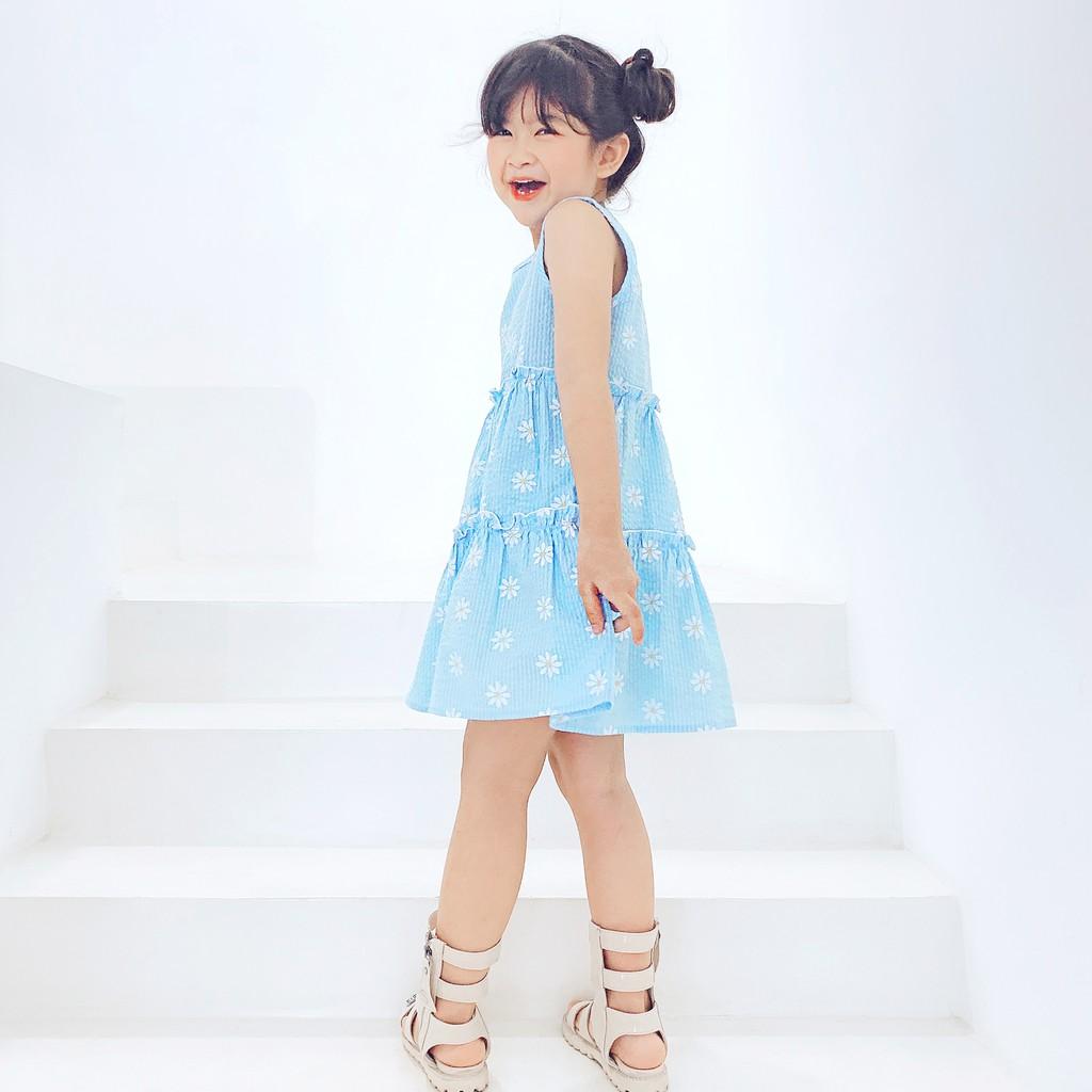 Đầm bé gái ❤️14-38 kg ❤️ Váy Bé Gái Hoa Cúc Vải Kate Xốp Cực Cute - 1723