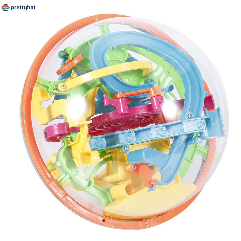 3D Spherical Maze Intellect Ball Balance Magical Puzzle+138 Barriers PT
