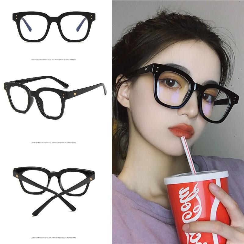 [Mã CBSPIKE27JAN1 hoàn 15K xu đơn 99K] Mắt kính gọng vuông màu trong suốt thời trang phong cách retro