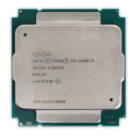 CPU Intel Xeon Processor E5-2699v3 (45M Cache, 2.30 GHz) tray.
