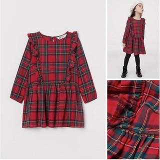 Váy kẻ đỏ dòng kid cho các bé rất yêu, sẵn thêm 1.5-2y