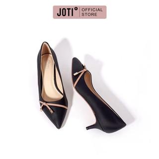 JOTI Giày Công Sở Nữ Jasmin 3226VN4 2021 - Mũi Nhọn Phối Nơ Thời Trang Gót Cao 4cm - Mang Đi Làm Dạo Phố thumbnail