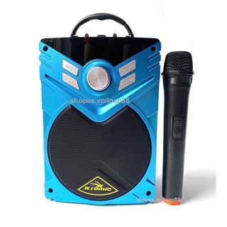 [Mã ELMSBC giảm 8% đơn 300K] Loa Karaoke Bluetooth KIOMIC K56 Tặng Kèm 1 Micro UHF Không Dây MINCHAN