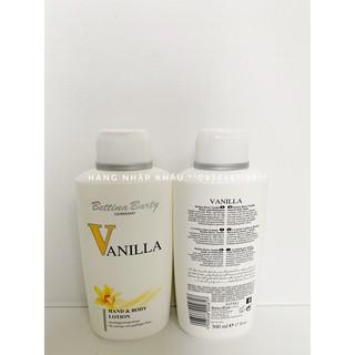 Sữa Dưỡng Thể Hương Nước Hoa Vanilla Đức - Lotion Sữa Chua Trắng Da Bettina Barty Vanila Đức 500ML - VANNILA ĐỨC