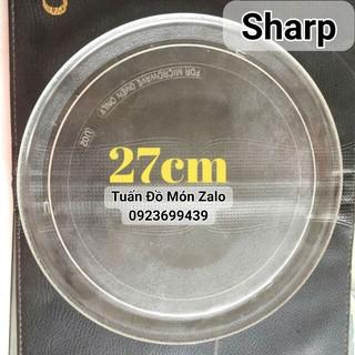 Đĩa quay lò vi sóng Sharp 27cm trơn lò 22l phụ tùng linh kiện chính hãng