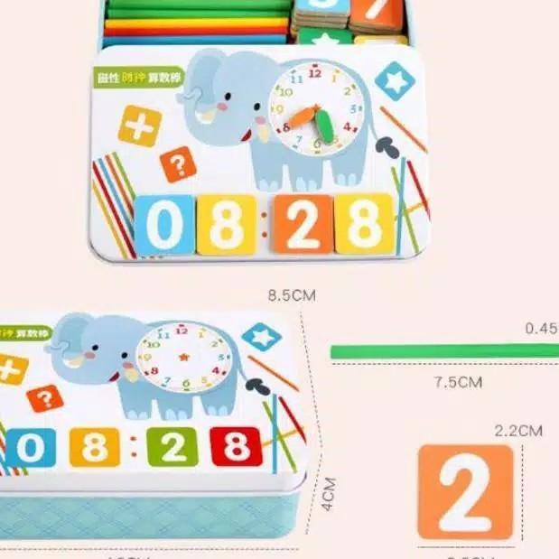 ✬☋ Bộ đồ chơi tập đếm có nam châm cho bé