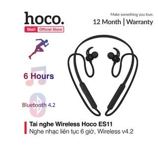 Tai nghe Wireless thể thao Hoco ES11, với thời gian nghe nhạc lên đến 6 giờ, thiết kế kháng nước dành riêng cho thể thao