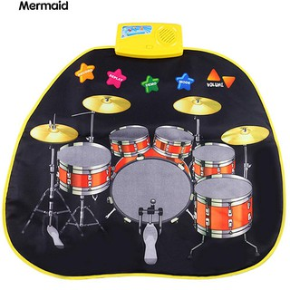 Baby Kids Jazz Drums Musical Play Mat Rug Multiuse Music Educational Toy