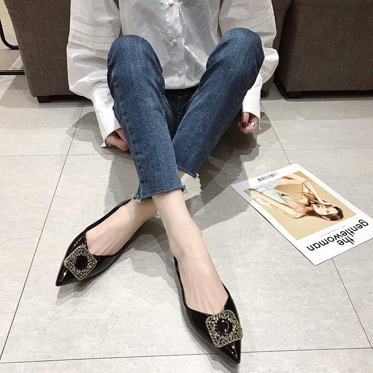 Giày Cao Gót Da Hở Ngón Kiểu Hàn Quốc Thiết Kế Thoải Mái Cho Nữ