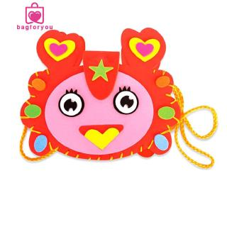 Bagforyou❀New Fashion Cartoon Children DIY Bags EVA Handmade Bag Kindergarten Craft Material Pack