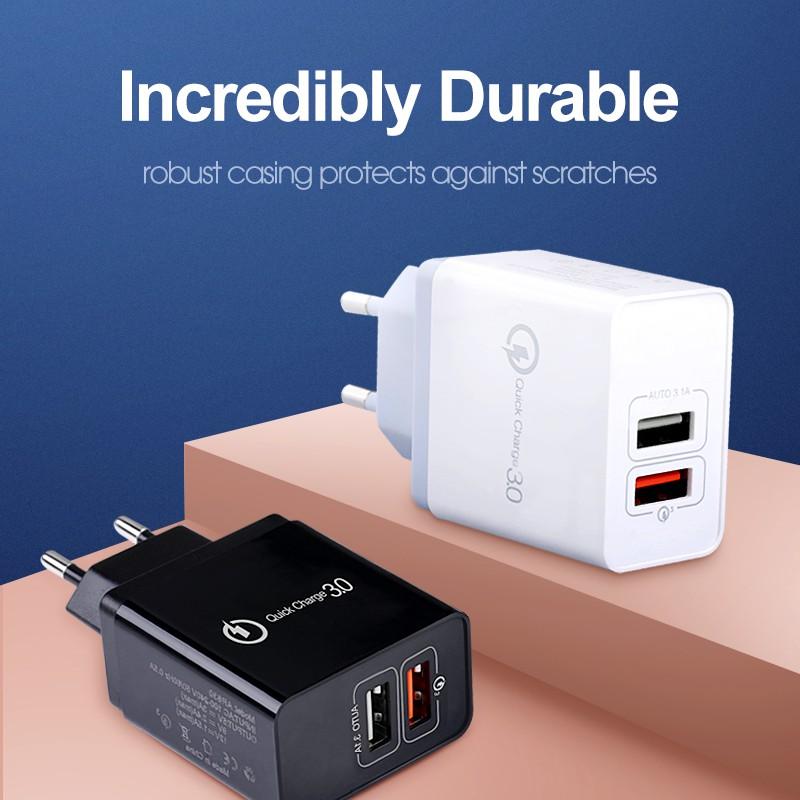 Suntaiho 18W Quick USB Charge QC 3.0 3 Port Wall Adapter US EU Plug For iPhone Samsung